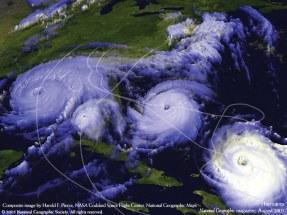huracanes satelital